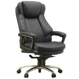 スリンキー オフィスチェア ブラック ECOレザー 肘付き Slinky 先振込送料無料