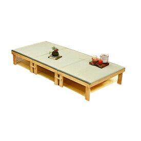 中居木工 折りたたみ 畳ベッド 3分割タイプ NK-2190 和風 日本製 【送料無料(北海道・沖縄・離島除く)】【代引不可】