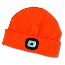 [8月1日開始!最大1500円OFFクーポン] LED Beanie Sportsmans Colle Orange NIGHT SCOUT KNS0012★