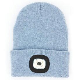 [8月1日開始!最大1500円OFFクーポン] LED Beanie Blue アクリルニット帽 ブルー NIGHT SCOUT KNS0008★