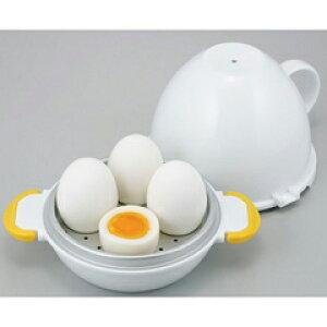 【曙産業】 レンジでらくチン ゆで卵 4個用 【キッチン用品:調理用具・器具:料理別調理グッズ一覧:ゆで卵・温泉卵作りアイテム】【レンジでらくチン】
