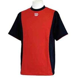 【ウィルソン】 ハーフスリーブシャツ [サイズ:L] [カラー:ブラック×レッド] #WTA18HS-BR 【スポーツ・アウトドア:フィットネス・トレーニング:ウェア:メンズウェア:トップス】【WILSON】