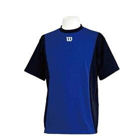 【ウィルソン】 ハーフスリーブシャツ [サイズ:L] [カラー:ブラック×ブルー] #WTA18HS-BB 【スポーツ・アウトドア:フィットネス・トレーニング:ウェア:メンズウェア:トップス】【WILSON】