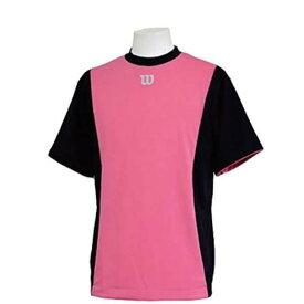【ウィルソン】 ハーフスリーブシャツ [サイズ:L] [カラー:ブラック×ピンク] #WTA18HS-BP 【スポーツ・アウトドア:フィットネス・トレーニング:ウェア:メンズウェア:トップス】【WILSON】