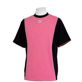 【ウィルソン】 ハーフスリーブシャツ [サイズ:XL] [カラー:ブラック×ピンク] #WTA18HS-BP 【スポーツ・アウトドア:フィットネス・トレーニング:ウェア:メンズウェア:トップス】【WILSON】