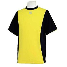 【ウィルソン】 ハーフスリーブシャツ [サイズ:M] [カラー:ブラック×イエロー] #WTA18HS-BY 【スポーツ・アウトドア:フィットネス・トレーニング:ウェア:メンズウェア:トップス】【WILSON】