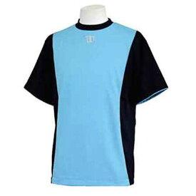 【ウィルソン】 ハーフスリーブシャツ [サイズ:L] [カラー:ブラック×サックス] #WTA18HS-BS 【スポーツ・アウトドア:フィットネス・トレーニング:ウェア:メンズウェア:トップス】【WILSON】