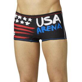 【アリーナ】 TOUGHSUIT ショートボックス(USA) [サイズ:L] [カラー:USA(ブラック・ブルー×レッド)] #SAR-0107-USA 【スポーツ・アウトドア:水泳:競技水着:メンズ競技水着】【ARENA】