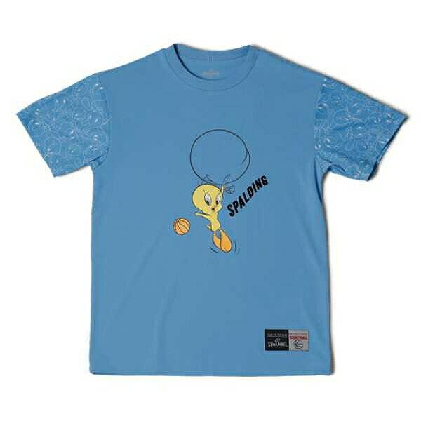 【スポルディング】 Tシャツ トゥイーティ— バルーン [サイズ:M] [カラー:サックス] #SMT181370 【スポーツ・アウトドア:その他雑貨】【SPALDING T-Shirt TWEETY BALLOON】