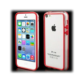 【1000円offクーポン(要獲得) 4/29 9:59まで】 【送料込み(沖縄・離島を除く)】 iPhone5c ハイブリッドバンパー プラスチック&TPU クリア/レッド 【iPhone5c: 電化製品 スマートフォン iPhoneケース】