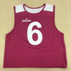 【スポルディング】ビブスNO.0‐56枚セット[カラー:ピンク][サイズ:フリー]#SUB130180【スポーツ・アウトドア:スポーツ・アウトドア雑貨】【SPALDING】