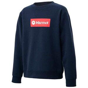【マーモット】 キッズスウェットロゴクルー(ジュニア) [サイズ:130cm] [カラー:ダークインディゴ] #TOJQJB10-DIN 【スポーツ・アウトドア:その他雑貨】【MARMOT Marmot Kids Sweat Logo Crew】