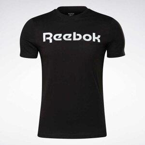 【リーボック】 グラフィック シリーズ リニア ロゴ Tシャツ [サイズ:L] [カラー:ブラック×ホワイト] #GJ0136 【スポーツ・アウトドア:その他雑貨】【REEBOK Graphic Series Linear Logo Tee】