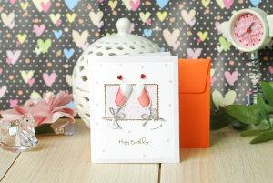 ■メッセージカード ギフトカード ウェディング封筒 付き ミニ グリーティングカード 結婚式ゲスト サンクスカード 出産祝い ハート プレゼントカード 誕生日 席札 お礼 ギフト 寄せ書き 結