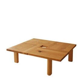 飛騨産業 森のことばシリーズ 正方形フロアテーブル(100角)SN151T キツツキマーク 【代引対象外】