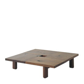 飛騨産業 森のことばWalnutシリーズ 正方形フロアテーブル SW151T キツツキマーク 【代引対象外】