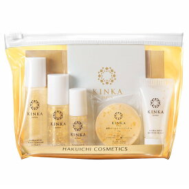 金箔入り化粧品 金華ゴールド トライアル6点セット お試し 【あす楽】 Kinka Gold Nano Cosmetics Trial Set MADE IN JAPAN