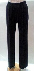 トールサイズのパンツ 44サイズ 11号 ジャージーパンツ 黒 股下80cm以上 Liola ウエストゴム 【Fashion the Sale 限定 80%オフ】