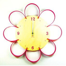 【YamatoJapan/ヤマト工芸】FLOWER CLOCK/フラワークロック[YK10-103]お花をモチーフにしたカワイイ掛け時計!木のぬくもりがたまらないアイテム♪雑貨 オシャレ かわいい クリスマス プレゼント 時計 木製 tempoo