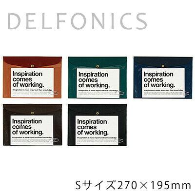 【DELFONICS/デルフォニックス】ビニールブリーフケース[VC14]Sサイズ(270×195mm)全5色B5サイズが入る便利なケース! 収納力抜群!ノートや書類入れに【_ビニールブリーフケースの通販のテンプー】