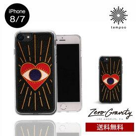 送料無料 メール便 iPhone8/7 ZERO GRAVITY VISIONS スマホケース アイフォン8 アイフォン7 スリム シングル ケース おしゃれ 人気 クール 大人 女子 刺繍 ハート 個性的 ゼログラビティ tempoo