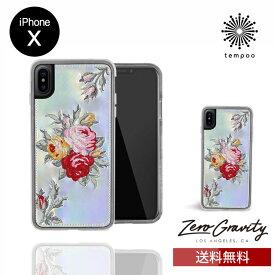 送料無料 メール便 iPhoneX ZERO GRAVITY BOUQUET スマホケース アイフォンテン アイフォンX スリム シングル ケース おしゃれ 人気 クール 大人 女子 花 かわいい 刺繍 モデル ゼログラビティ LA tempoo