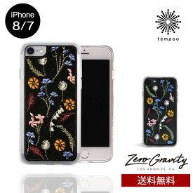 送料無料 メール便 iPhone8/7 ZERO GRAVITY GATHER スマホケース アイフォン8 アイフォン7 スリム シングル ケース おしゃれ 人気 クール 大人 女子 刺繍 花 セレブ モデル ゼログラビティ ブランド tempoo
