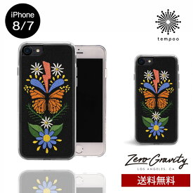 送料無料 メール便 iPhone8/7 ZERO GRAVITY MONARCH スマホケース アイフォン8 アイフォン7 スリム シングル ケース おしゃれ 人気 クール 大人 女子 刺繍 蝶 セレブ モデル ゼログラビティ ブランド tempoo