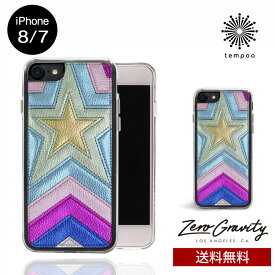 送料無料 メール便 iPhone8/7 ZERO GRAVITY SUPERSTAR スマホケース アイフォン8 アイフォン7 スリム シングル ケース おしゃれ 人気 クール 大人 女子 星 スター 花 セレブ モデル ゼログラビティ ブランド tempoo