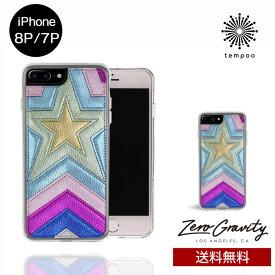 送料無料 メール便 iPhone8P/7P ZERO GRAVITY SUPERSTAR スマホケース アイフォン8P アイフォン7P スリム シングル ケース おしゃれ 人気 クール 大人 女子 刺繍 星 セレブ モデル ゼログラビティ ブランド tempoo