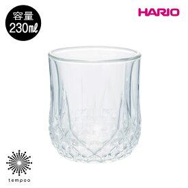 HARIO ダブルウォールグラス 230 DWG-230-Tハリオ グラス 耐熱ガラス 二重構造 カップ シンプルカットグラス 高級感 ホット アイス 食器洗浄器おしゃれ プレゼント ギフト tempoo