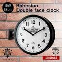 送料無料 INTERFORM インターフォルムダブルフェイスクロック Robeston ロベストン [CL-2138] 両面時計 壁掛け時計 両…