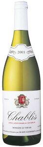 アラン ジョフロワ シャブリ 白ワイン ドメーヌ フランス A.O.C Chablis Domaine Le Verger Alain Geoffroy 750ml白 辛口ワイン フランスワイン 魚 チーズ お祝い 記念日 誕生日プレゼント ギフト パーティ