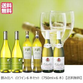 白ワインアソート 飲み比べ 6本セット 750ml×6本