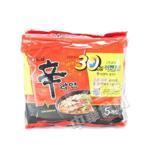韓国辛ラーメン(120g*5袋入)600g/即席麺/インスタント/インスタント麺