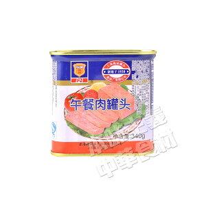 梅林ランチョンミート午餐肉(角缶)340g・中華食材・非常食・ポークミート・スパムの次はこれ!