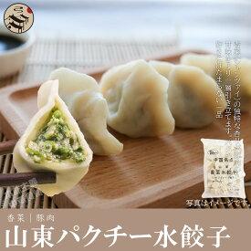 中国名点山東香菜水餃子(シャンツアイ・パクチ入りモチモチ水ギョーザ)1kg約50個・ お得!激安・もちもち・本場の味 お惣菜・鍋・冷凍・中華料理