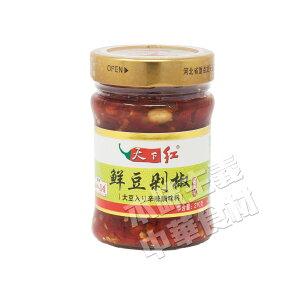 天下紅鮮豆切り椒(大豆入り辛味調味料) 210g ラー油/らーゆ/辣油/具入り/中国/土産/通販/食べ物/調味料/本味主義
