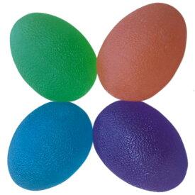【 握力のトレーニングに 】スクイーズ エッグ【 オレンジ、グリーン、ブルー、パープル 4個セット 】