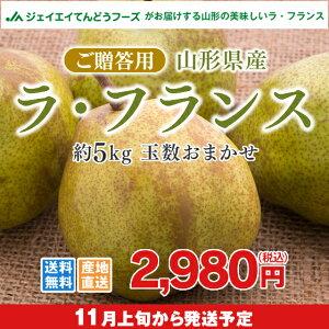 果物 ギフト 送料無料 山形県産洋梨ラフランス約5kg...