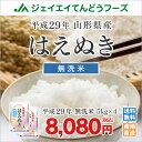 米 送料無料【無洗米】 29年産米 山形県産米 はえぬき 20kg(5kg×4) ※一部地域は別途送料追加