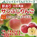 訳あり りんご 10kg 送料無料 山形県産 りんご 約10kg(28〜56玉) ※一部地域は別途送料追加 予約商品 フルーツ 果物 早生ふじ サンふじ t02