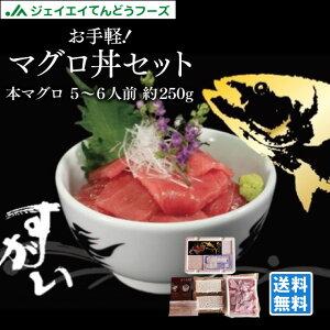 お手軽マグロ丼セット 5〜6人前 本マグロ切り落とし約500g 冷凍酢飯&醤油&ワサビ付!