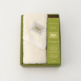 超甘撚りスクウエアジャカードフェイスタオル&ORGANIC HAND SOAPセット(生成) 日本製 | テネリータ TENERITA