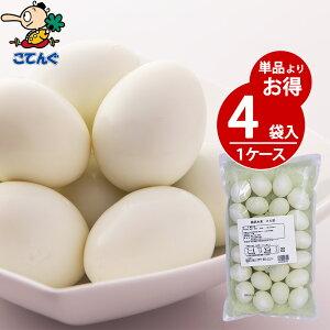 【4袋セット】 鶏卵水煮 25卵袋詰X4袋 ケース[9.1kg] 給食 業務用食材 の天狗缶詰 大容量 常温長期保存 ゆでたまご レトルト ラーメン おでん具材に タルタルソースにも