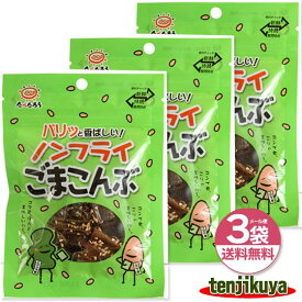 ノンフライごまこんぶ 前島食品 15g 3袋セット ポイント消化 ゴマ 昆布 おやつ昆布 国内産