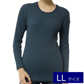 【LLサイズ】 ひだまり 健康肌着 チョモランマ 婦人用 長袖丸首インナーKENSEN ケンセン 健繊 QM823