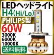 PHILIPS製LEDヘッドライトH4(Hi-Lo)60W3000K/6000K/10000K取り換え可能12V-24V兼用スーパーキャンセラー内蔵高速冷却ファン内蔵P14Nov15