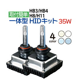 mini 一体型 HID H11 H8 HB3 HB4 35W HIDキット フォグ ヘッドライト オールインワン HID 一体型HID 3000K(イエロー) 4300K 6000K 8000K 10000K フォグランプ hid ヴォクシー プリウス エスティマ ヴェルファイア アクア シエンタ ムーヴ オデッセイ N-BOX …ete 送料無料