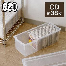 ◇1/20(月)0:00〜23:59 20%OFFクーポン対象◇CDいれと庫収納ケース CD 収納 ケース シンプル 収納ボックス フタ付き プラスチック 天馬